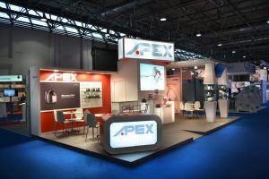 Stand diseño Apex feria empresarial
