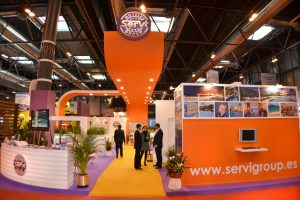 Diseño stand para Servigroup