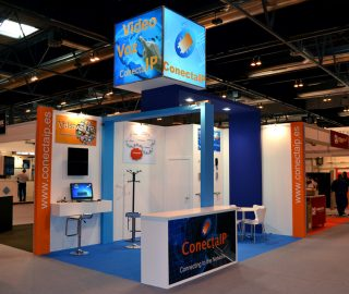 Stand diseño ConectaIP